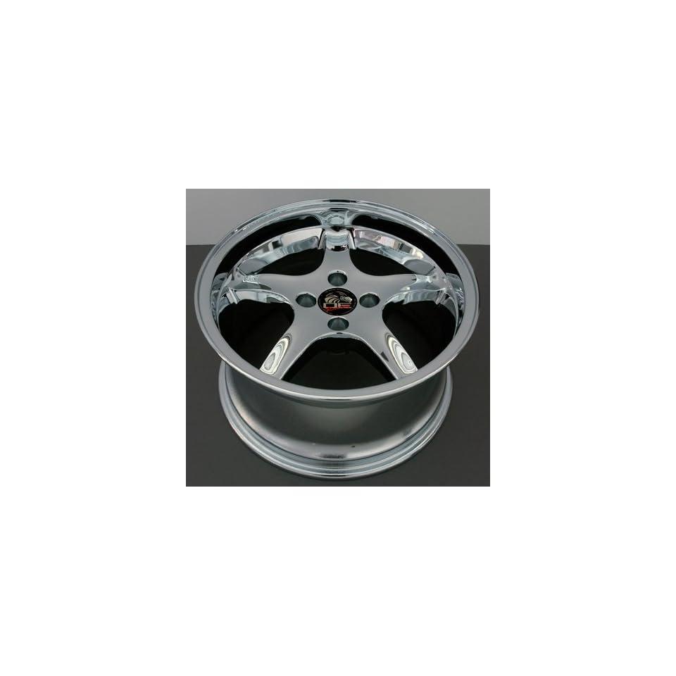 Cobra R 4 Lug Deep Dish Style Wheels Fits Mustang (R) Chrome