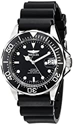 Invicta Mens Black Rubber Analogue Watch - 9110