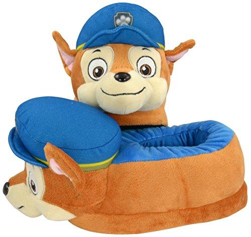 Paw Patrol 0121992-Pantofole per bambini-Peluche del personaggio Chase, taglia 26/28