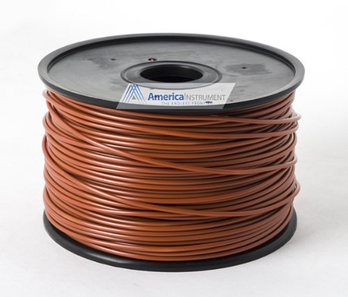 Jet - HIPS Filament 1kg (=2.2 lbs) on Spool for 3D Printer Makerbot, Reprap, Makergear, Ultimaker, Up!, etc. - USA (3.00mm, Chocolate)