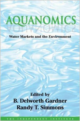 Aquanomics : water markets and the environment