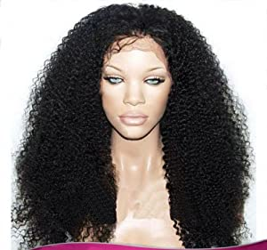 Remeehi Afro Kinky Curl 100% Brazilian human hair Front lace wigs 12