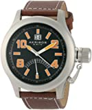 Akribos XXIV Men's AKR407OG Scouter Orange Quartz Canteen Watch