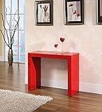 Tavolo Legno Consolle allungabile fino a 3mt colore Rosso lucido Laccato - EGLEMTEK® TM
