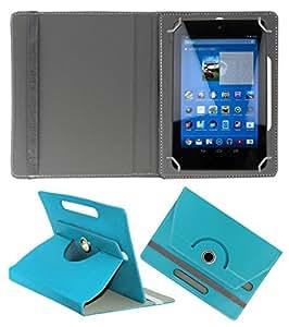 KOKO ROTATING 360° LEATHER FLIP CASE FOR DIGIFLIP PRO XT811 TABLET STAND COVER HOLDER SKY BLUE