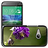 Hot Style Cell Phone PC Hard Case Cover M00310539 Common Columbine Flower Purple Plant HTC One Mini 2 M8 MINI Not Fits M8
