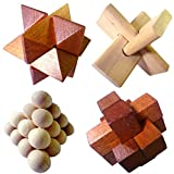 Wooden Puzzle Brain Teasers - One Supplied