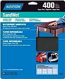 Norton 48060 Sandwet  Sandpaper 400 Grit, 9-Inch x 11-Inch, 5-Pack