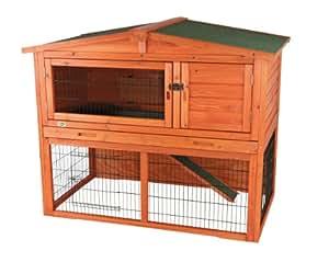 Trixie 62322 natura Kaninchenstall mit Freigehege, 134 × 111 × 83 cm