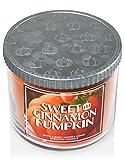 Bath & Body Works Sweet Cinnamon Pumpkin Candle 14.5 Oz 3 Wick Limited Edition for 2015