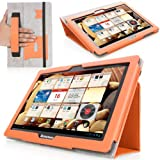MoKo Lenovo Ideatab S6000 Case - Slim Folding Cover Case For Lenovo Ideatab S6000 10.1-Inch Android Tablet ORANGE...