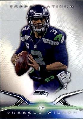 2014 Topps Platinum Football Card IN SCREWDOWN CASE #17 Russell Wilson - Seattle Seahawks ENCASED