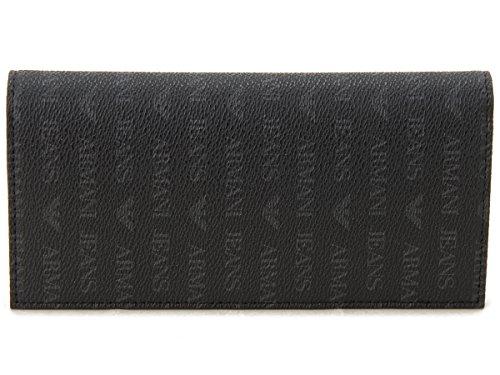 ARMANI JEANS (アルマーニジーンズ) 長財布 06V2O J4 12 Armani Jeans ロゴ デザイン 財布 メンズ ファスナー式小銭入れ付 [並行輸入品]