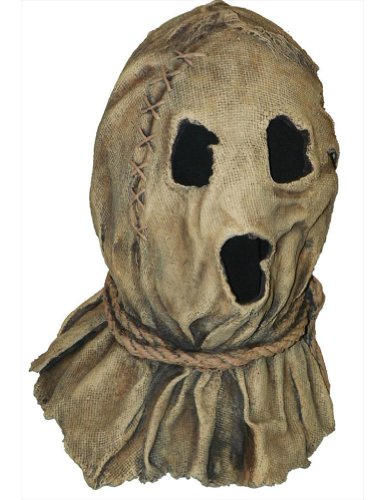 Scary-Masks Dark Night Scarecrow Latex Mask Halloween Costume - Most Adults