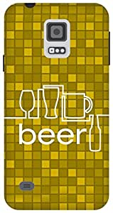 The Racoon Lean Beer hard plastic printed back case/cover for Samsung Galaxy S5