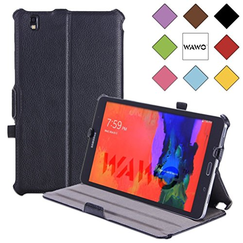 Wawo Smart Cover Multi-Angle Stents Case For Samsung Galaxy Tab Pro 8.4 Inch Tablet - Black front-998870