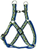 "Kakadu Pet Aztec Nylon Step In Dog Harness, 1/2"" x 16-24"", Blue"