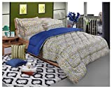 Bellagio Elite Collection Cotton 1 Double Bed Sheet & 2 Pillow Covers (Brown)