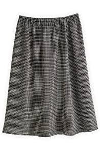 Green 3 Apparel Reclaimed Graphic Check Skirt