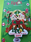 Disney Pins - Epcot Holidays Around the World 2009 - Disney Vacation Club - Chip and Dale- Limited Edition Christmas Pin 73861