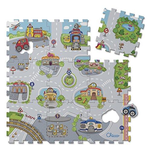 Chicco 7163000000 - Puzzle Matten City, 9-teilig