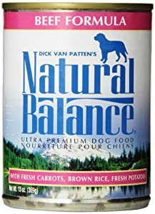 Natural Balance Ultra Premium Beef Canned Dog Formula, Case of 12 Cans/13 Oz