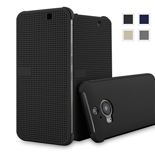 HTC One M9+ dot view case,HTC M9 PLUS Dot View cover(HTC Hima Ultra,HTC Hima Ace Plus,M9pt,) Dot View Cover Flip Protective Case AaBbDd Holster (Black) (Htc Hima Ace Plus Case compare prices)