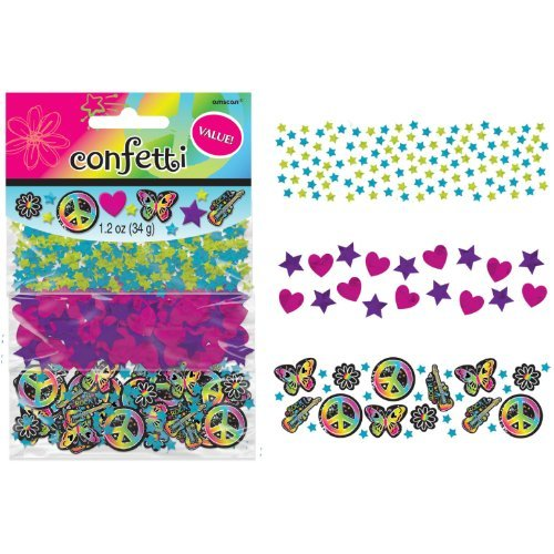 Amscan Groovy Neon Confetti Value Pack (1 Piece), Multi, 1.2 oz - 1