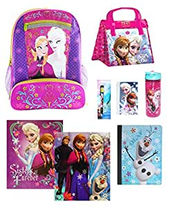Ultimate Back To School Sets Disney Frozen Ultimate Backpack Set With Insulated Lunch Bag, Water Bottle & More