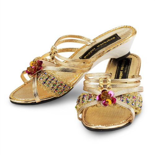 CHILD Gold Dress-Up Costume Shoes