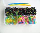 Toy - 200pcs Alphabet Perlen 100 St�ck S / C-Clips 10 Charms drei Haken ein Box-Set Fit Gummib�nder