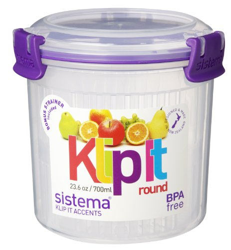 Cheap Sistema KLIP IT Accents Round Food Storage Container with
