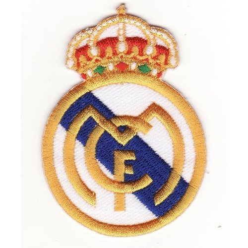 Ecusson brode real madrid el mcf fc embroidered iron on vendu de r m a football objets d coratifs - Ecusson du real de madrid ...