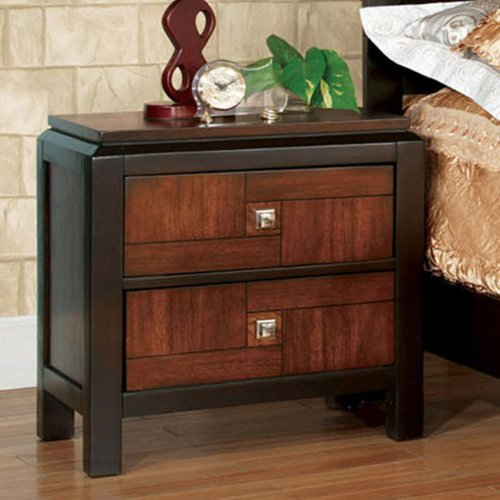 Furniture Of America Furniture Of America Alma 2 Drawer Nightstand, Wood