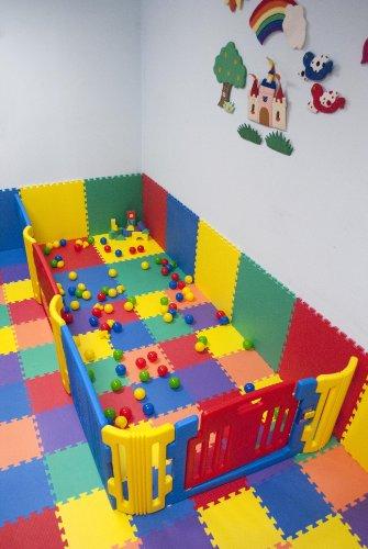 "Rainbow (5 Colors) Interlocking foam Wonder Mats: 36 Pieces at 12"" X 12"" X ~9/16"" Extra Thick"