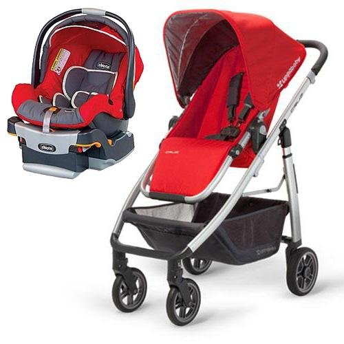 UPPAbaby 0071DNY - Cruz Denny Stroller with KeyFit 30 Infant Car Seat in Fuego