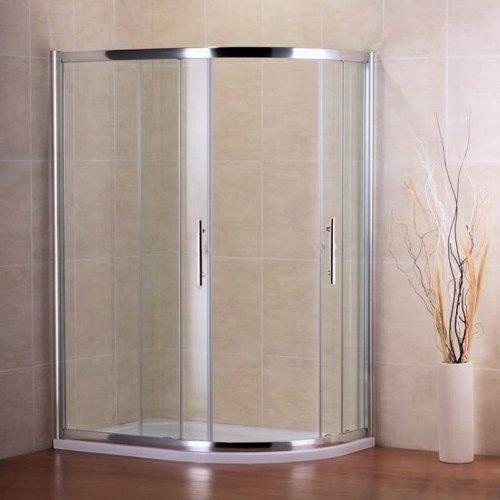 900x760mm Quadrant Shower Enclosure Door+Stone Tray (NS7-97+ASH7690 RIGHT)