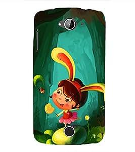 99Sublimation Princess Girl in Garden 3D Hard Polycarbonate Designer Back Case Cover for Acer Liquid Z530 :: Acer Liquid Z530S