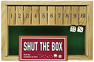 Square Root Games 0024 Shut The Box In Natural Finish Solid Hardwood