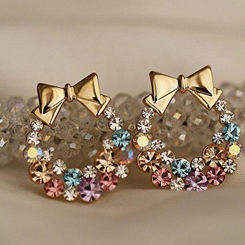 1pair Fashion Women Lady Elegant Crystal Rhinestone Ear Stud Earrings Jewelry, NK. (Alex Ani Display compare prices)