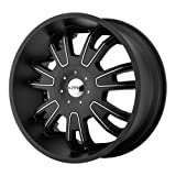 KMC Wheels Shilo (Series KM6647) Matte Black Finish With Machined Accents - 22 X 9.5 Inch Wheel