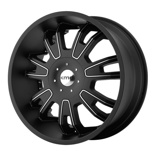 KMC Wheels Shilo (Series KM6647) Matte Black Finish With Machined Accents - 24 X 9.5 Inch Wheel