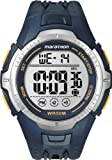 Timex Marathon T5K355 – Reloj de caballero de cuarzo, correa de resina color azul oscuro (con luz, cronómetro, alarma)
