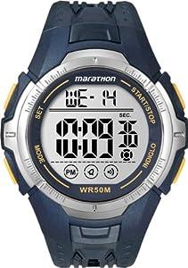 Timex -T5K3554E - Marathon- Quartz digitale - Montre de Sport Homme- Bracelet en résine Bleu