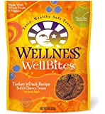 Wellness WellBites Soft Natural Dog Treats Made in USA Only, Turkey & Duck Biscuits, 8-Ounce Bag