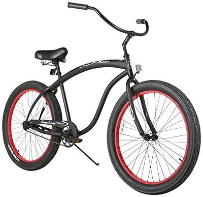 Firmstrong Bruiser 3.0 Man Single Speed Beach Cruiser Bicycle, 26-Inch, Matte Black