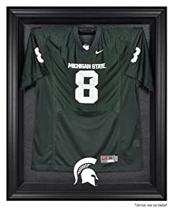 Michigan State Spartans Black Framed Logo Jersey Display Case by Mounted Memories