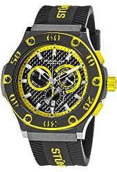 Stuhrling Prestige Men's 292P.335965 Prestige Swiss Made Harbinger Quartz Chronograph Date Yellow Watch