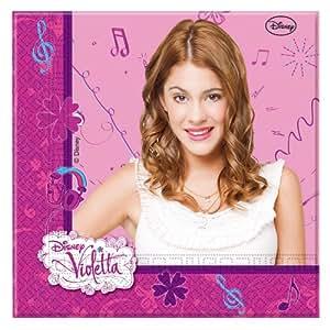 Disney Violetta Two Ply Paper Napkins, Multi Color