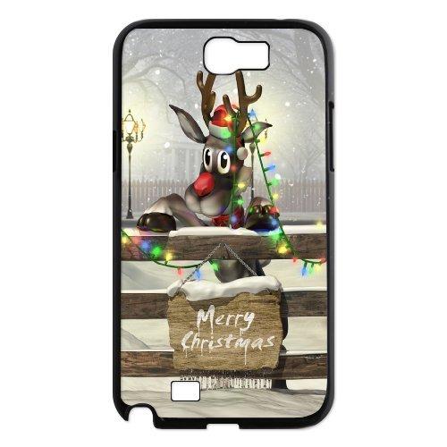 Samsung Galaxy Note 2 N7100 Christmas Deer Phone Back Case Diy Art Print Design Hard Shell Protection Aq083906
